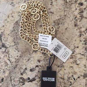 NWT Michael Kors gold chain